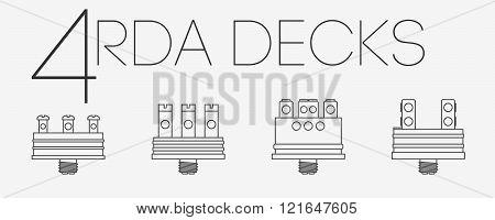4 Thin Lines Rda Decks Set