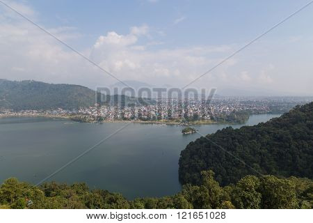 Pokhara Lakeside and Fewa Tal view