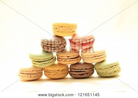 Macarons In Pastel Colors