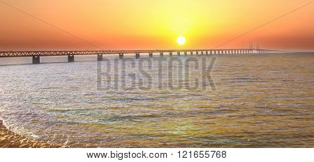 Oresund Bridge Sweden Malmo
