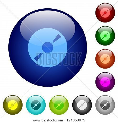 Color Dvd Glass Buttons