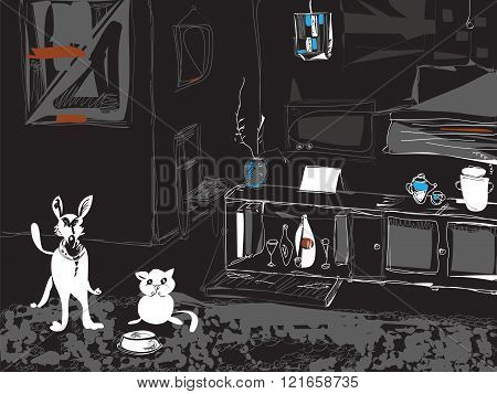 Pets In A Room