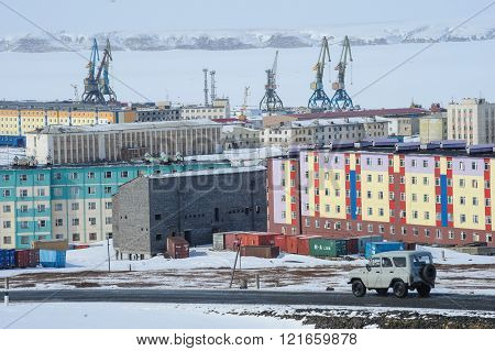 Chukotka Pevek - The Northernmost City In Russia. Housing Estate.