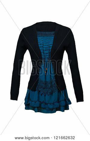 Black female blouse