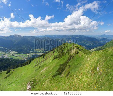View of the valley Kleinwalsertal