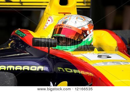 colorful car and helmet