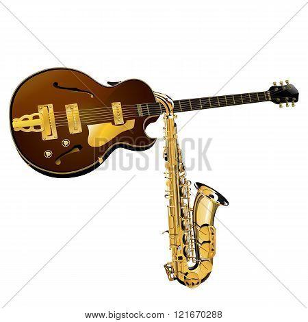 Jazz Guitar And Saxophone