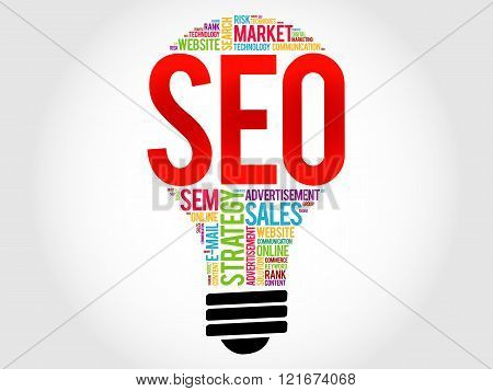 Seo (search Engine Optimization) Bulb