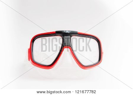 The Diving Mask On White Background