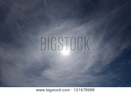 beautiful sun halo phenomenon in Penang, Malaysia