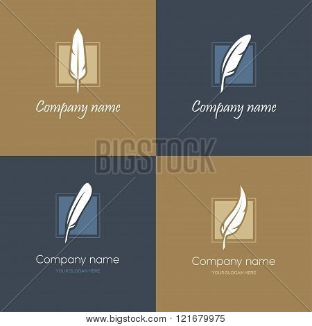 Four feather logos