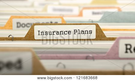 Folder in Catalog Marked as Insurance Plans.