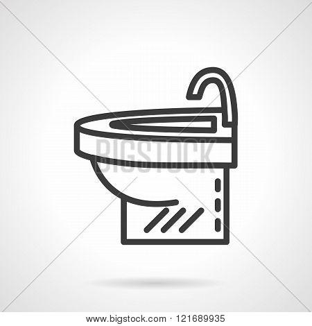 Simple washstand black line design vector icon