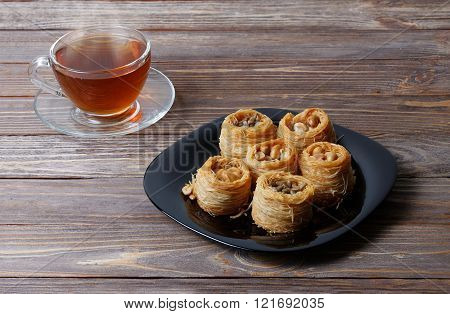 Eastern Sweets And Cup Of Tea
