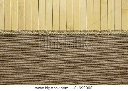 Background For Design. Tweed And Light Wood.
