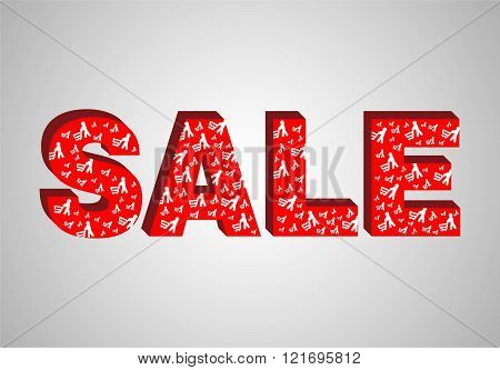 3D red text sale.