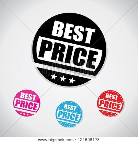 Best price tag, simple circular shape with one color design