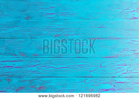 Crackle Painted Turquoise Blue Wood Texture