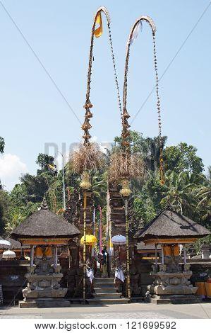 BALI, INDONESIA - DECEMBER 01, 2015: Pura Tirta Empul, one of the sights of Bali on December 01, 2015 in Bali, Indonesia