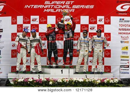 JAPAN - JUNE: Super GT 2008 Round 4 podium in Japan, Malaysia