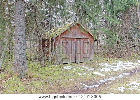 Abandoned Barn Hidden In The Woods