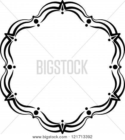 Unusual Lace Frame, Decorative Element With Empty Place For Your Text. Vector Illustration.