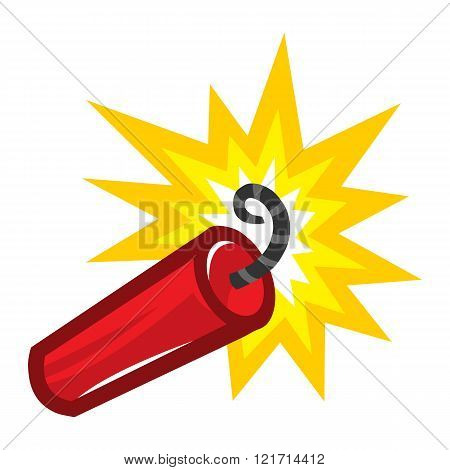 Dynamite Stick Explosive vector icon