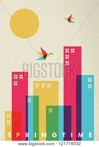 Spring Time Season Diversity Colors City Concept