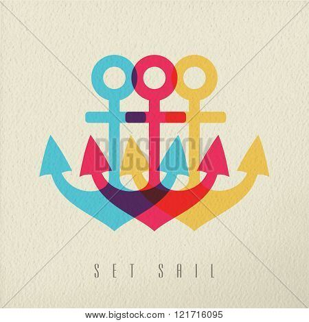 Anchor Illustration Set Sail Concept Background
