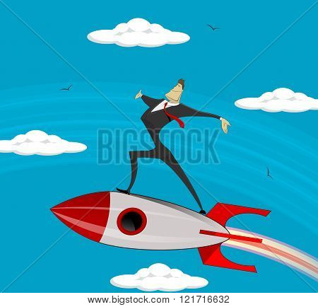 Flying Businessman Success .