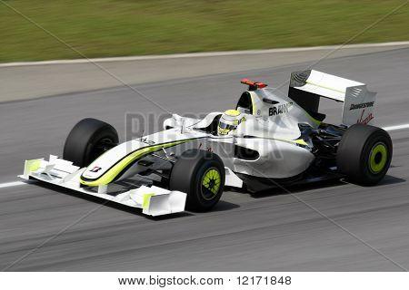 SEPANG, MALAYSIA - APRIL 3: BRAWN GP's Jenson Button practices at the 2009 F1 Petronas Malaysian Grand Prix April 3, 2009 in Sepang Malaysia.