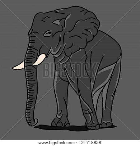 Grey Big Elephant 0