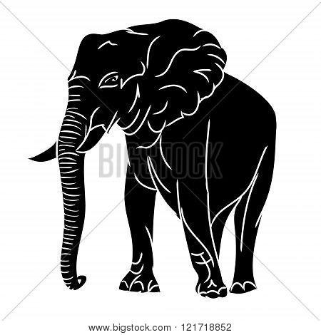 Big Elephant (black Silhouette)