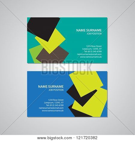 set of two business cards Canada and USA standard 35 x 2 in 889 x 508 mm