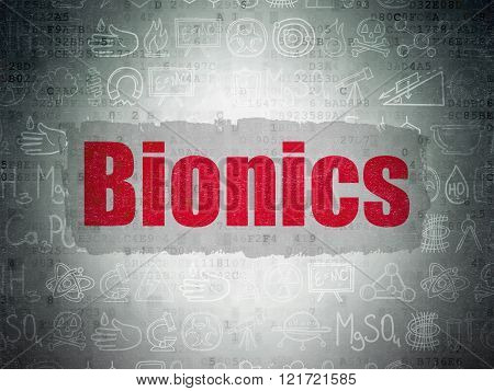Science concept: Bionics on Digital Paper background