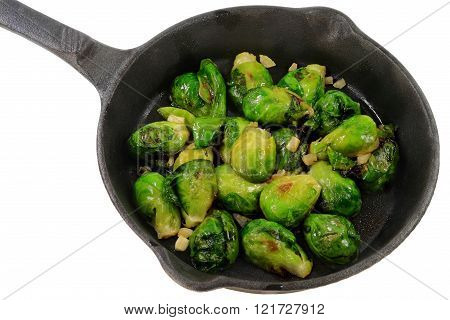 Fried Brussels sprouts (Cabbage)