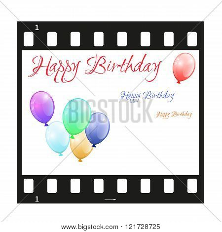 Birthday Card With Filmstrip