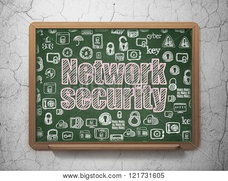Privacy concept: Network Security on School Board background