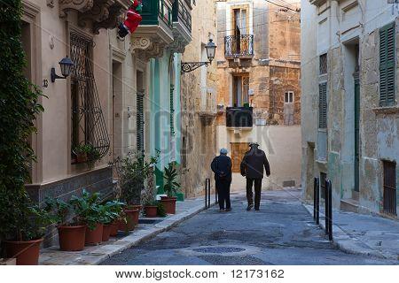 Street In Old European Town