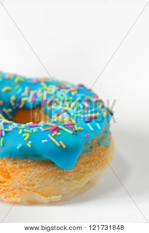 Colorful and tasty donut shoot in studio