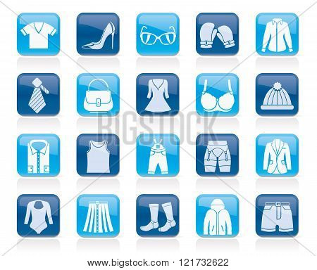 Fashion and clothing and accessories icons