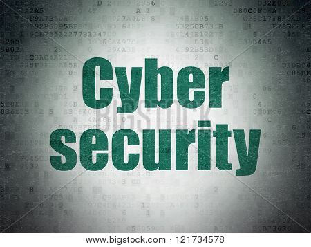 Safety concept: Cyber Security on Digital Paper background
