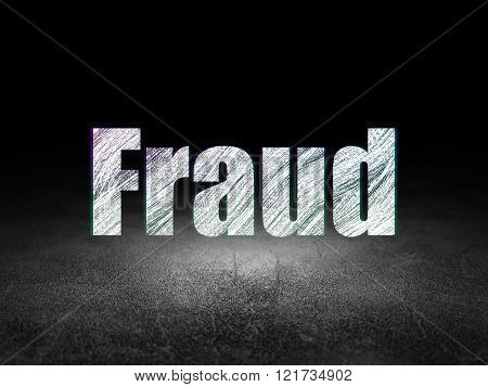 Security concept: Fraud in grunge dark room