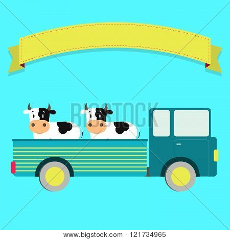 Truck With Cows