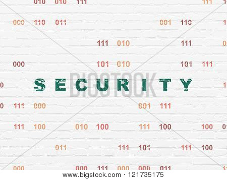 Protection concept: Security on wall background