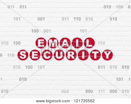 Security concept: Email Security on wall background