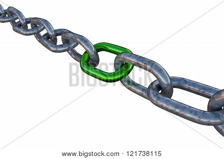 3D Isolated Chain Illustration