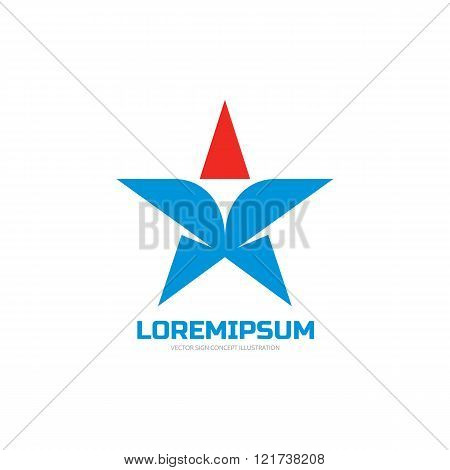 Star - vector logo concept illustration. Star sign. Star symbol. Star icon. Vector logo template.