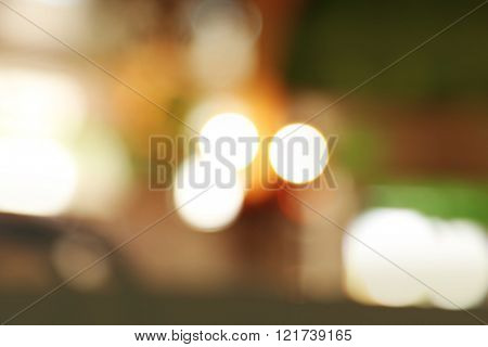 Abstract look at cafe interior on blurred background