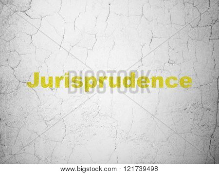 Law concept: Jurisprudence on wall background